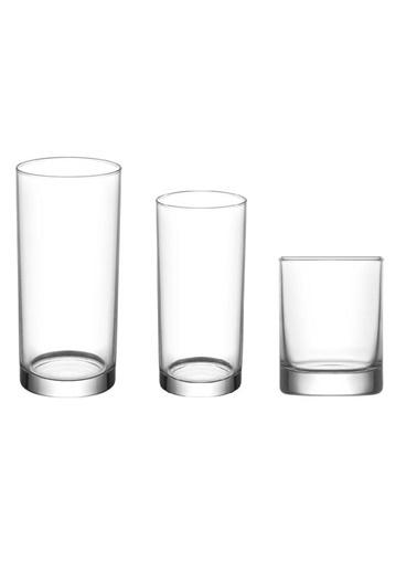 Lav Liberty Su Bardak - Su Meşrubat Bardağı 18 Prç. 3 Boy Renksiz
